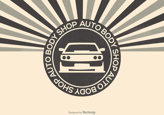 Auto Body Shop Illustration - Free vector #417407