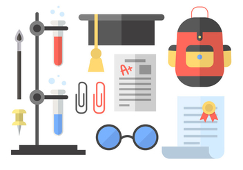 Chemistry And School Vector Elements - vector #417447 gratis