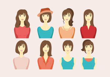 Headshot Women Vector - vector gratuit #417507