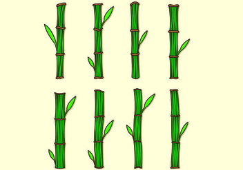 Set Of Bamboo Vectors - vector gratuit #417557