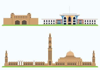 Oman Historic Showplace - vector #417597 gratis