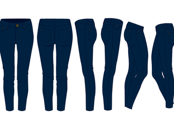 Girls Blue Jeans - vector gratuit #417607