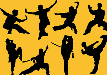 Free Wushu Icons Vector - Free vector #417617