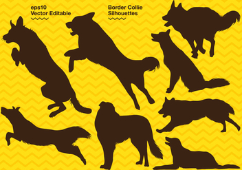 Border Collie Silhouette - бесплатный vector #417627