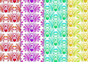 Free Vector Floral Pattern In Watercolor Style - Kostenloses vector #417797