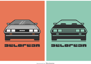 Free Vector DeLorean Car Illustration - vector gratuit #417817