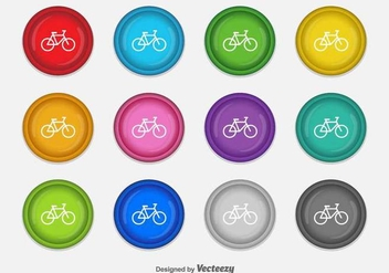 Bicycle Vector Icons - vector gratuit #417857