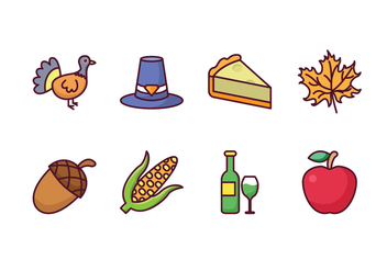 Free Thanksgiving Icons - vector #417907 gratis