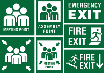 Meeting Point Sign - vector gratuit #417937