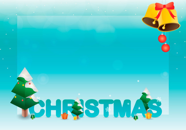 Sapin Tree Christmas Greetings Template - Free vector #417957