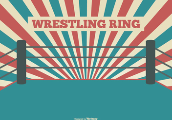 Flat Style Wrestling Ring Illustration - Free vector #418017