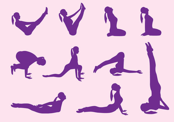 Yoga Step Vectors - vector gratuit #418047