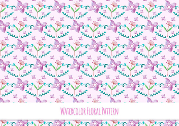 Spring Free Vector Floral Pattern - Free vector #418097