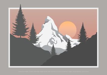 Sapin Tree and Mountain - vector gratuit #418147