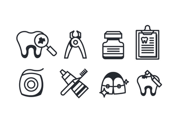 Dentist icons - vector #418177 gratis