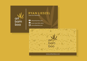 Bamboo Business Card Template Free Vector - vector gratuit #418197