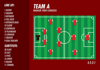 Football Ground Formation Top Free Vector - vector gratuit #418307
