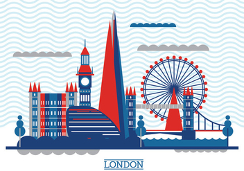 Vector Illustration The Shard and The London Skyline - vector gratuit #418317