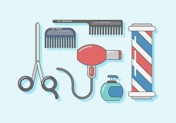 Free Barber Shop Vector - vector #418327 gratis