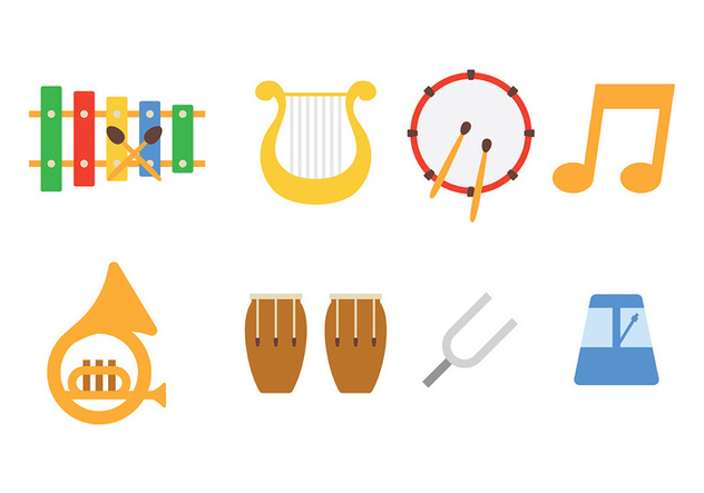 Music Instrument Icon Pack Vector - Kostenloses vector #418337
