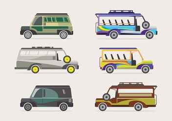 Jeepney transportation vector - Free vector #418387