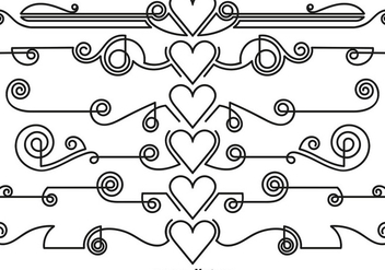 Vector Ornamental Dividers - vector gratuit #418547