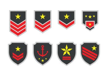 Free Army Emblem Vector - Free vector #418587