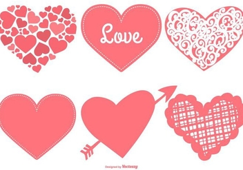Cute Hearts Collection - vector #418607 gratis