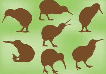 Free Kiwi Bird Icons Vector - бесплатный vector #418657