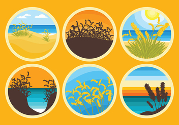Free Sea Oats Icons Vector - vector gratuit #418707