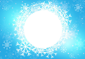 Snow Season Background Template - Free vector #418767