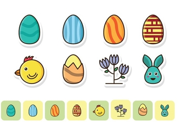 Free Easter Icon Set - бесплатный vector #418797