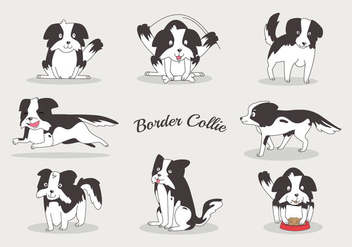 Free Border Collie Vectors - vector #418817 gratis