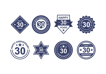 Free Anniversary Badges - Free vector #418827