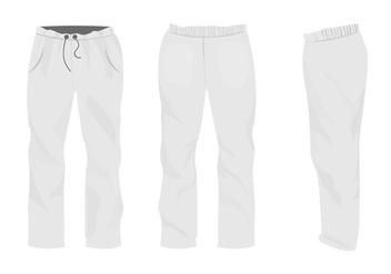 Set Of Sweatpants Blank Design - Free vector #418957