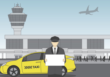 Driver at Airport Vector - Free vector #418967