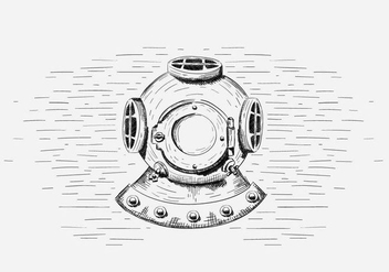 Free Vector Diving Helmet Illustration - Free vector #419037