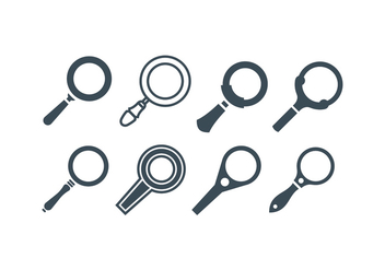 Magnifying Glass Vectors - vector gratuit #419097