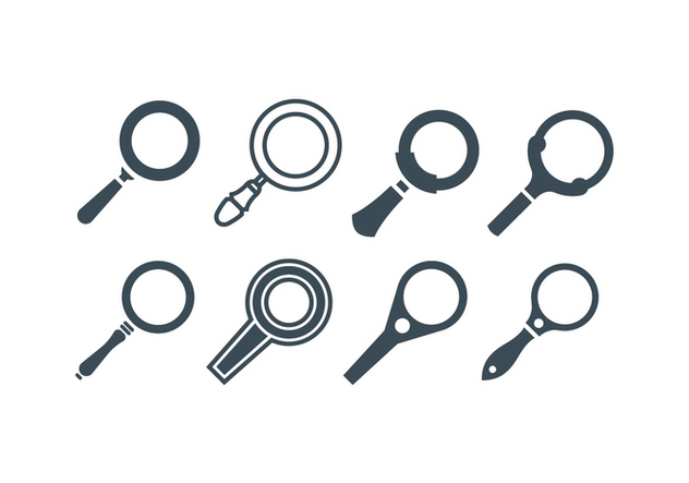 Magnifying Glass Vectors - vector #419097 gratis