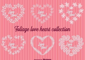 Floral Hearts Vector Badges - Free vector #419157