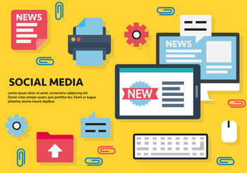 Free Social Media Vector Illustration - vector gratuit #419197