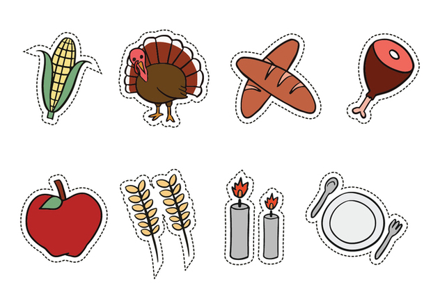 thanksgiving hand drawn icons free vector download 419207 cannypic