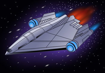 Starship Illustration - бесплатный vector #419227