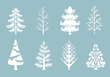 Vector Collection of Christmas Trees or Sapin - Free vector #419247