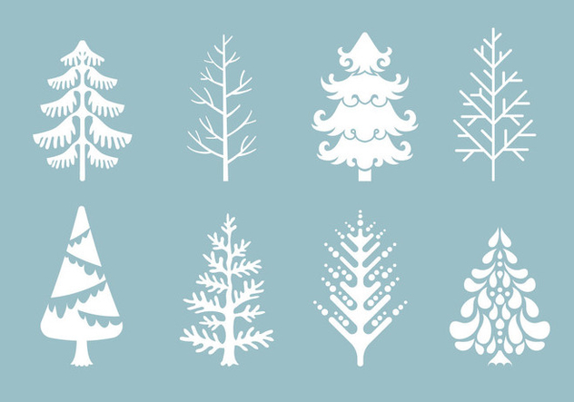 Vector Collection of Christmas Trees or Sapin - vector gratuit #419247