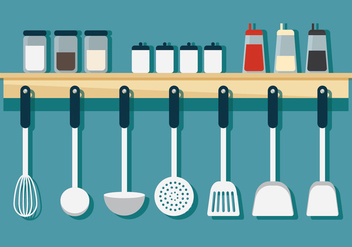 Hanging Cookware - Free vector #419307