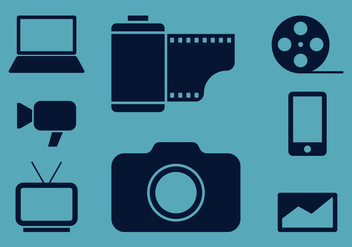 Mass Media Icons - vector #419327 gratis