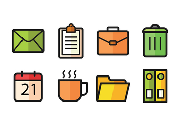 Office Icon Pack - vector #419337 gratis