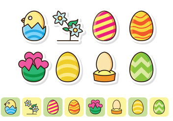 Free Easter Icon Set - бесплатный vector #419387