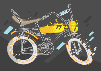 Free Bicicleta Vector Illustration - vector gratuit #419407